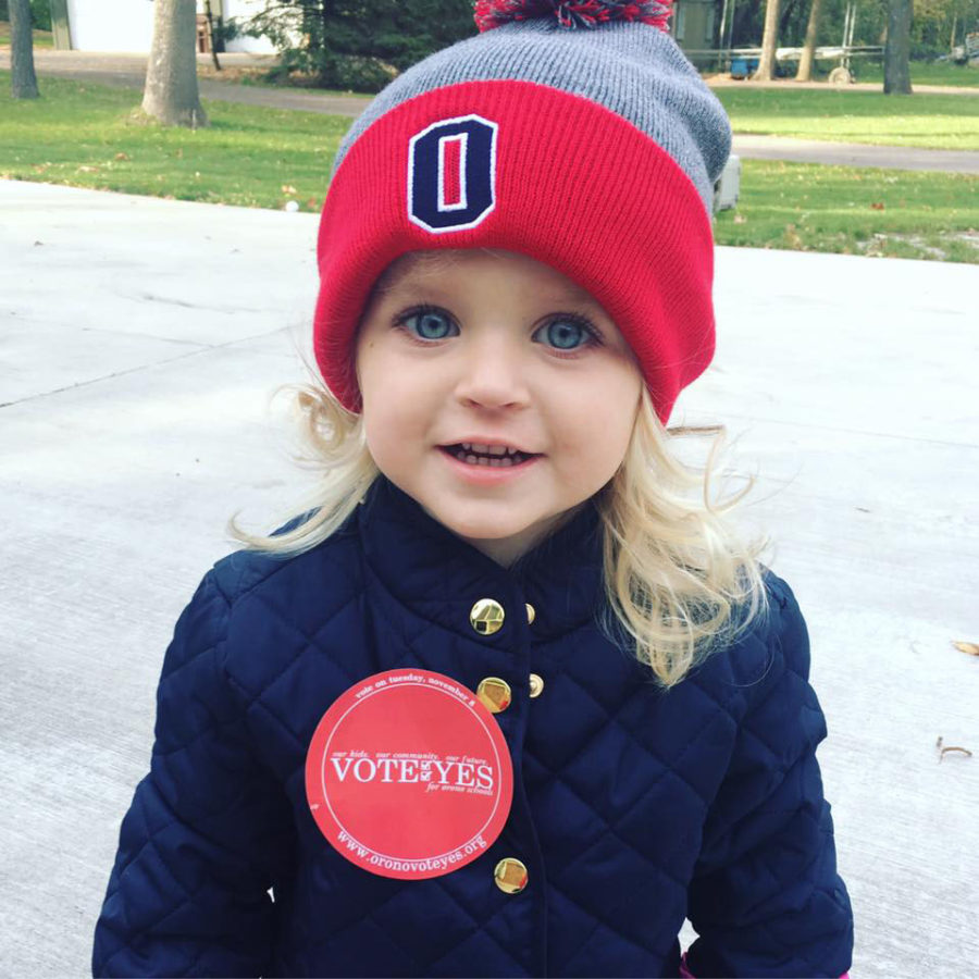Brittany Kado-Spears uploaded her own picture with the Vote YES sticker
