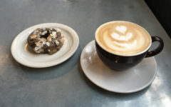 A vanilla latte and Sift donut from Vicinity Coffee
