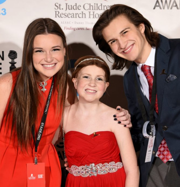 Crosbie and Carter Francis with their sister Marit at the 2016 St. Jude Red Carpet for Hope Teen Gala