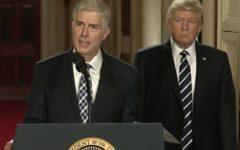 Neil Gorsuch, nominee for Associate Justice to the U.S. Supreme Court, and President Donald Trump, via the official White House YouTube page.