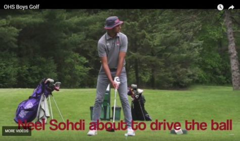 Neel Sodhi at the tee box during the Baker Invitational on May 24.