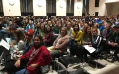 Orono Journalism and yearbook students at the MHSPA convention. 10/10/17