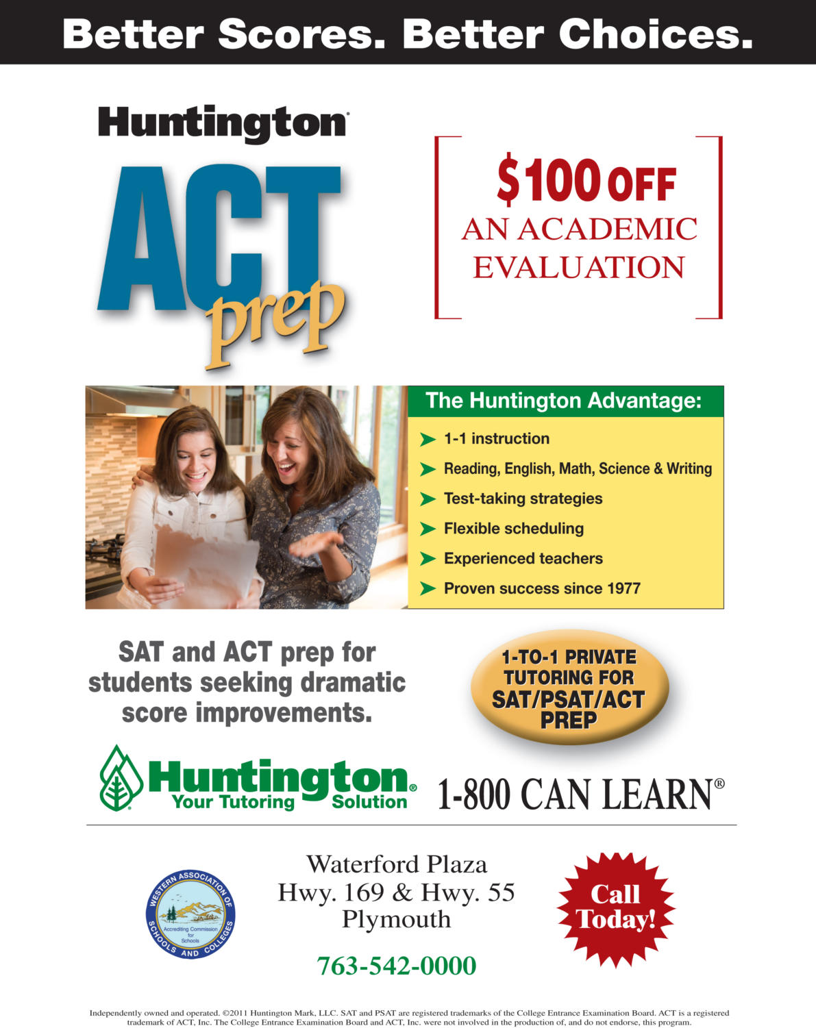 Huntington Learning Center Advertisement