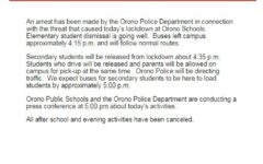 Students safe after lockdown