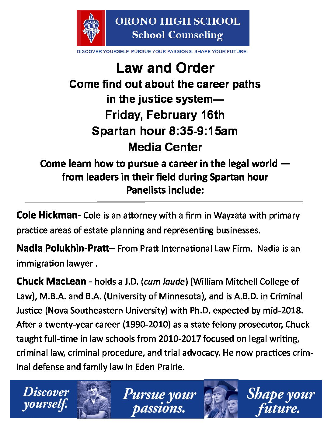 Law and Order Career Quest set for Friday