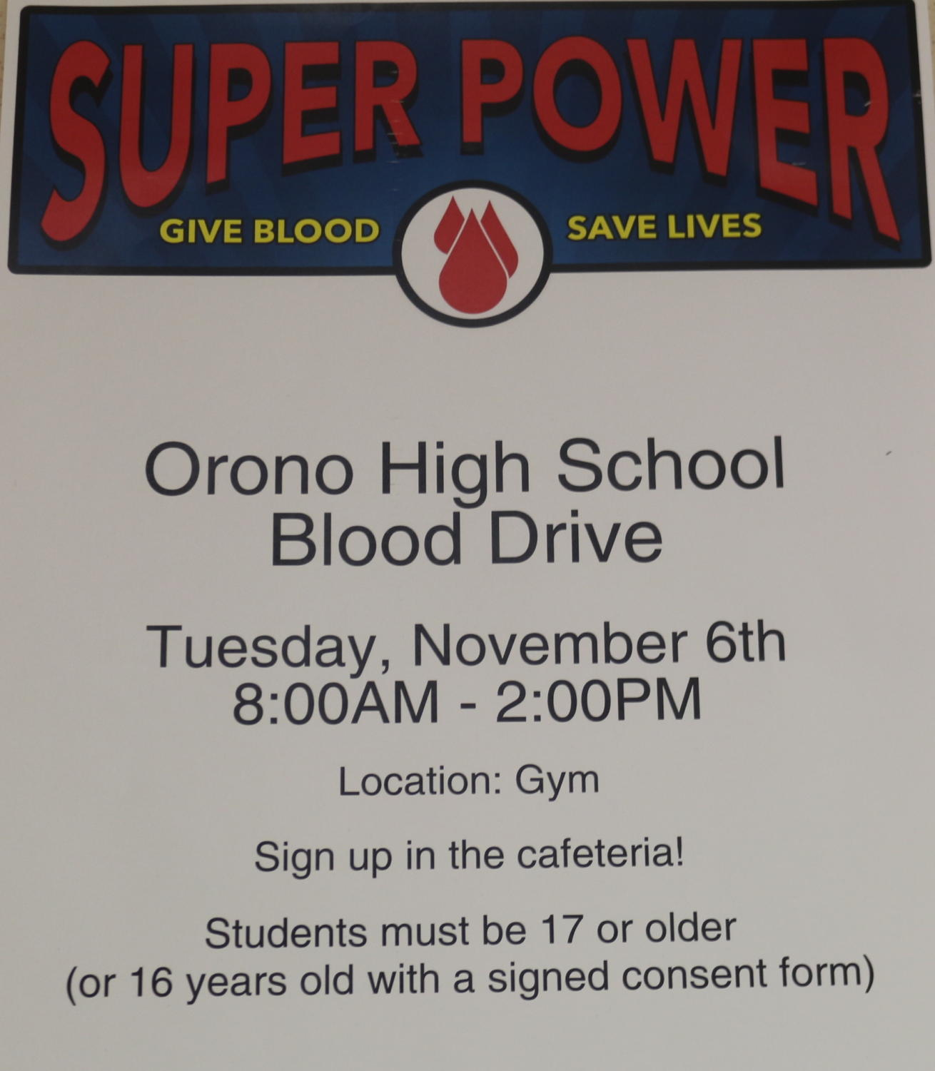 Orono fall blood drive