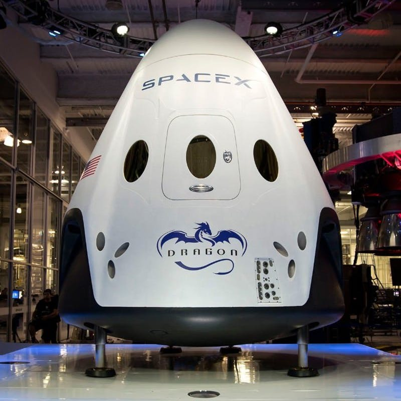 The+exterior+of+the+SpaceX%27s+Crew+Dragon+capsule.+%0A