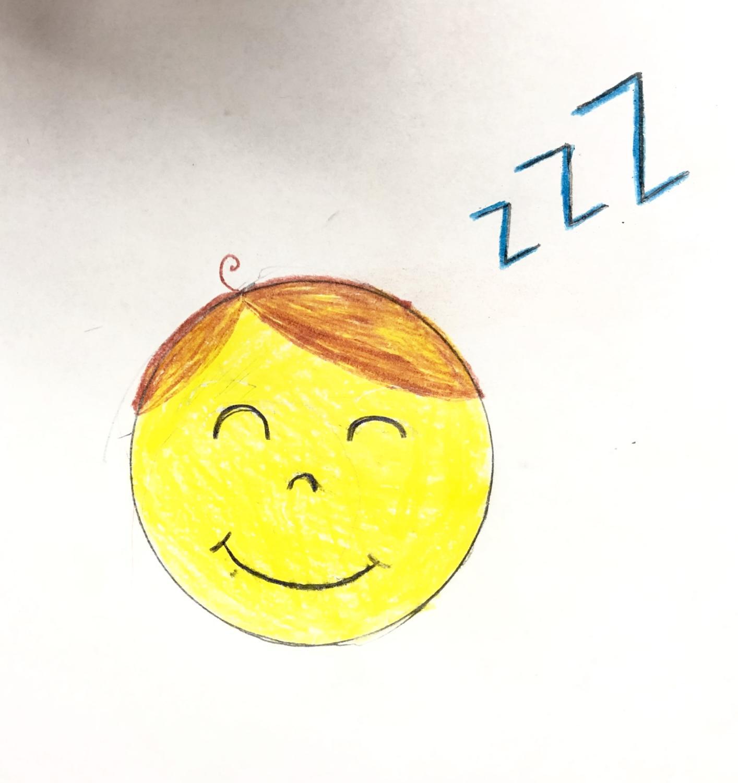 Illustration done by Amanda Marquis of a boy Sleeping