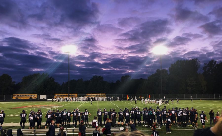 Beautiful+view+from+the+stands+during+Orono+vs.+Chaska+Homecoming+football+game.