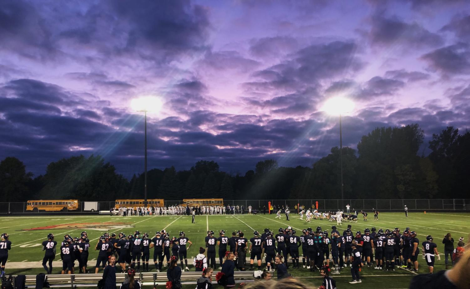 Beautiful view from the stands during Orono vs. Chaska Homecoming football game.