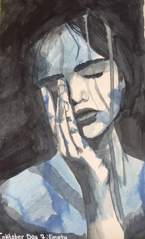 Svea Torgerson's day 7 Inktober drawing