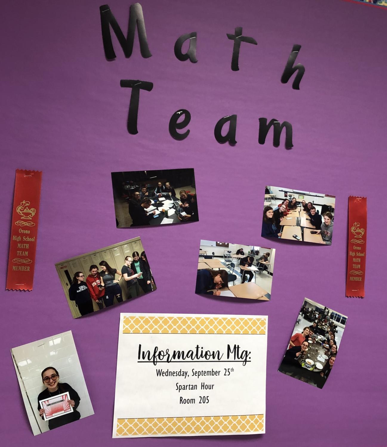 Orono's math team encourages players from all ages and backgrounds in math.