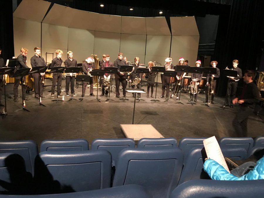 Orono+Brass+Ensemble+before+their+performance+on+Monday%2C+Dec.+16.+