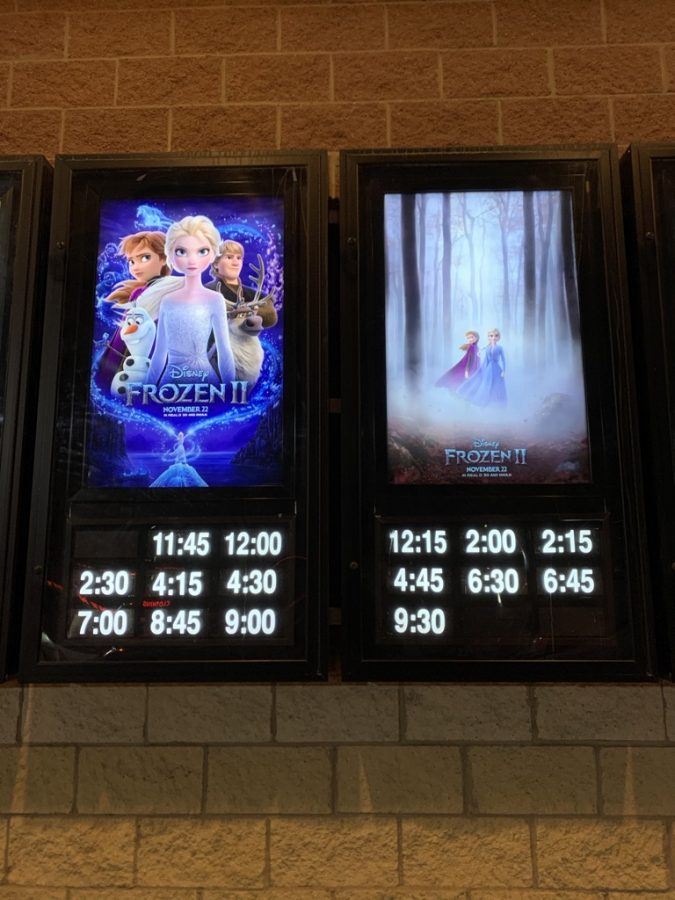 Frozen+2+has+taken+the+world+by+storm.+Movie+posters+are+seen+outside+of+theaters+world-wide.