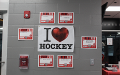 Boys hockey team holds an I Heart Hockey fundraiser