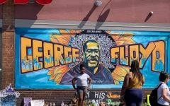 George Floyd mural outside of Cup Foods where Floyd was murdered.