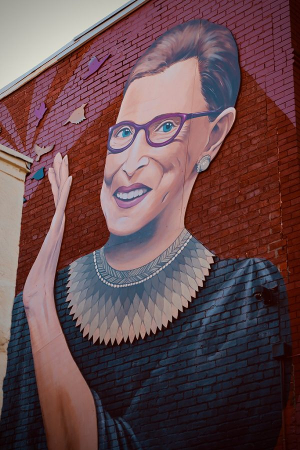 Ruth Bader Ginsburg mural on the intersection of 15th and U St. in DC. Photo taken by Joe in DC.