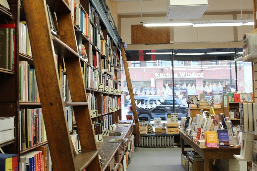 In the heart of Uptown Minneapolis, books line the shelves of Magers and Quinn booksellers, hundreds of books line the shelves behind old fashion ladders that were once used for employes to access books high and far across the shelves. Magers and Quinn has occupied their current retail space on Hennepin Ave since 1994