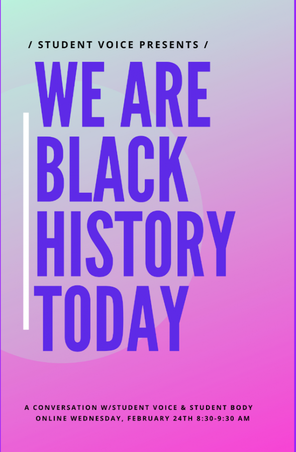 "The Student Voice Club at Orono High School presents, ""We Are Black History Today"" presentation sharing their stories and personal experience."