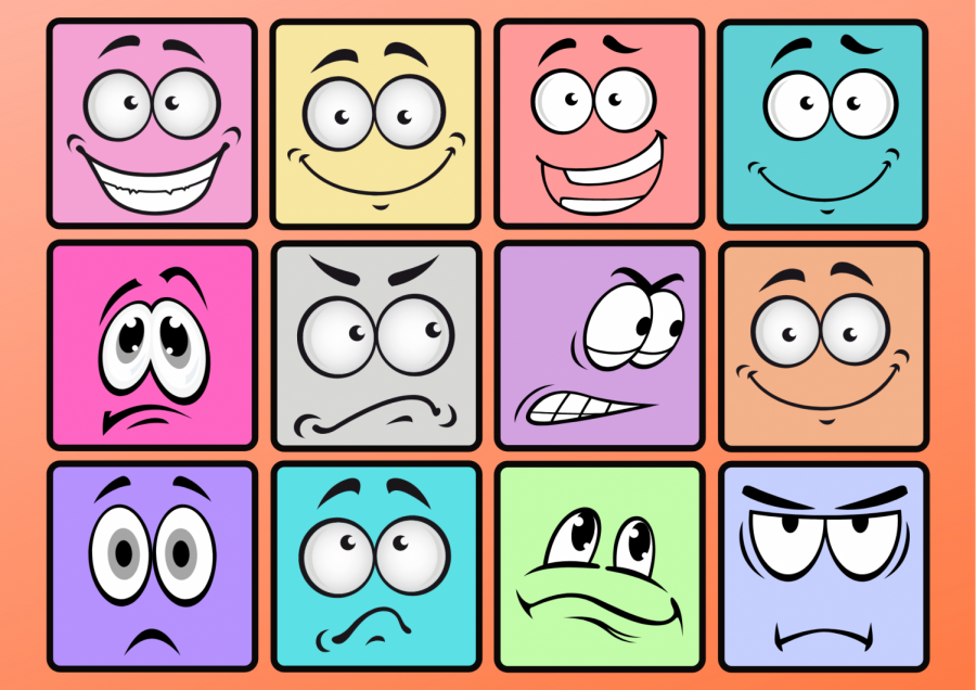 This shows some of the basic emotions that can be experienced. It gives a glimpse into how many emotions there are and how what they might look like.