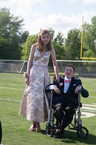 Maddie and Andy at the grand march before the dance started.