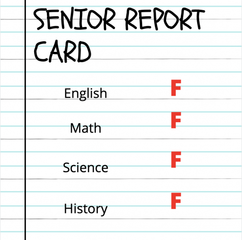 Between switching learning models and being in the last year of high school, high school seniors grades are slipping.