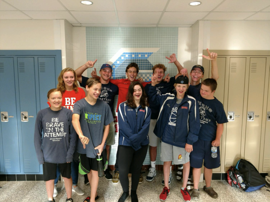 The Unified track team competed in a track meet  on Sunday May 23rd at Breck high school.