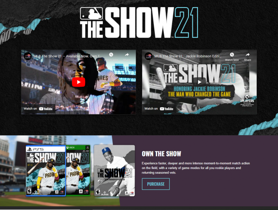 """The website shows potential buyers some of the features of the new version of """"The Show."""""""