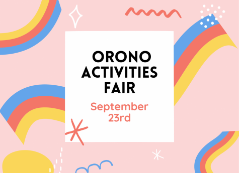 Orono High School is holding an activities fair on September 23rd, 2021.