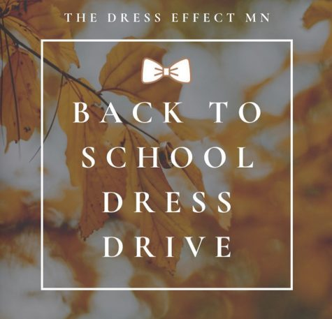The Dress effect poster for schools to know the donation are happening.
